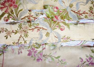 SUMMER CLEAROUT, 4 FRAGMENTS 19th CENTURY SILK, LYON OR SPITALFIELDS, REF, 196.