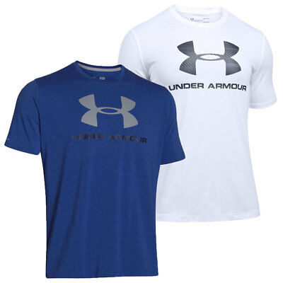 Under Armour Mens Charged Cotton Sportstyle Logo Gym T Shirt 35% OFF RRP
