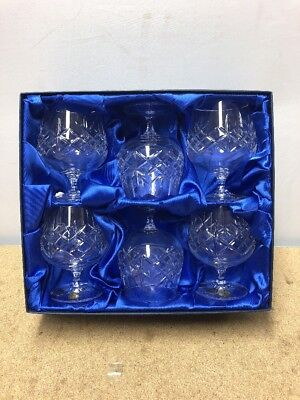 1036 6x Bohemia Crystal Glasses