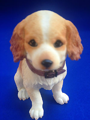 Cocker Spaniel Puppy Dog Collectible Poly Resin Statue Figurine Home Pet Dog