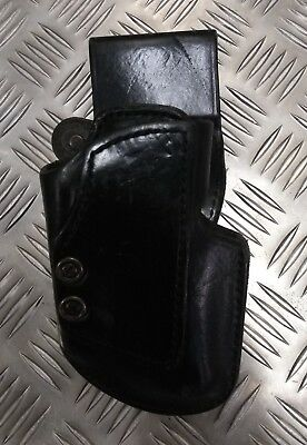 Military Issued Bianchi Black Leather Holster #99A RHP Genuine US Police