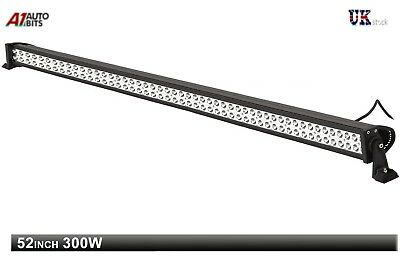"52"" 300W LED Spot Work Light Roof Bar SUV Front Rear Lamp Waterproof 12v 24v"