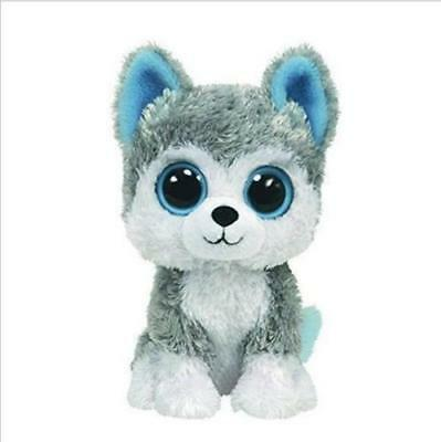 "6"" Cute husky TY Beanie Boos Plush Stuffed Toys Glitter Eyes"