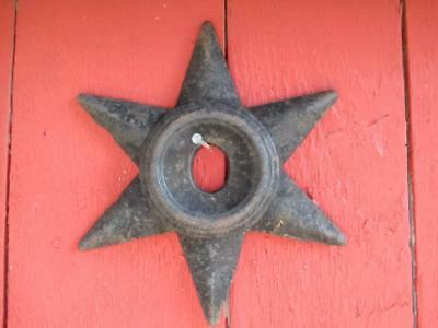 """Antique 6 point 9.75"""" Cast Iron Architectural Masonry Wall Anchor Plate STAR"""