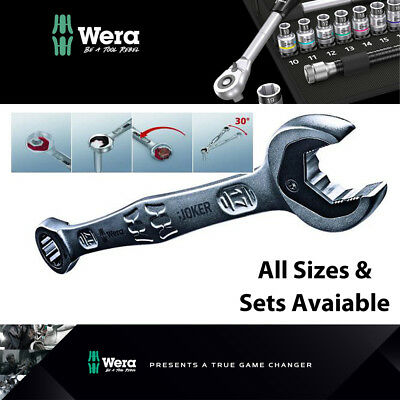 WERA Joker Metric & Imperial Combination Ratchet Open End Ring Spanner All Sizes