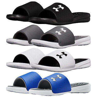 2019 Under Armour Mens Playmaker Slides - New UA Sandals Flip Flops Summer Pool