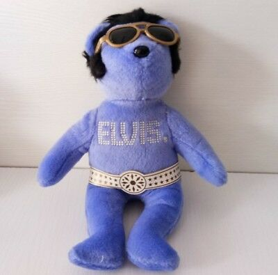 """TY Beanie Baby babies PURPL Elvis Bear Collection 8"""""""