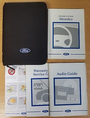 Genuine Ford Mondeo 2000-2003 Handbook Owners Manual Wallet Pack F-67