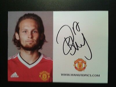 Daley Blind ( Manchester United ) Hand Signed Club Card