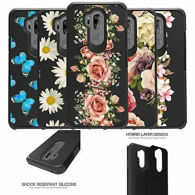For LG G7 (2018) | LG G7 ThinQ (2018) Dual Layer Slim Case - Floral Designs