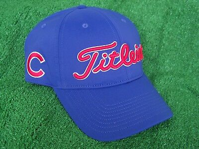77c6f4600dd Titleist Chicago Cubs Blue MLB Performance Adjustable Snap Back Golf Hat Cap  NEW