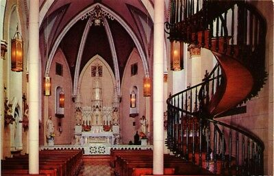 Dr Jim Stamps Us Chapel Of Loretto Stairway Santa Fe New Mexico Chrome Postcard