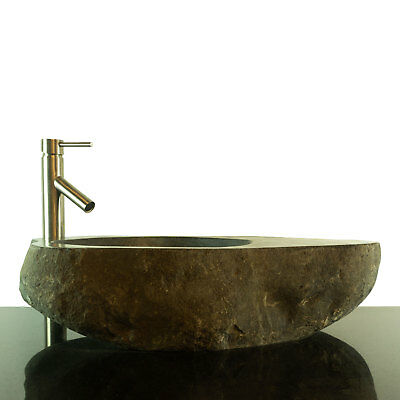 Big River Stone Vessel Sink with Soap Dish Bathroom Counter Top RSTDD-04