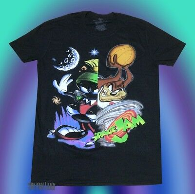 New Space Jam Marvin the Martian Taz Looney Tunes Vintage 1996 Mens T-Shirt