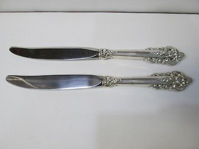 Lot of 2 Wallace Grand Baroque Sterling Silver Knives