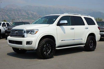 Toyota Sequoia PLATINUM LIFTED SEQUOIA PLATINUM 4X4 SUV NEW CUSTOM WHEELS TIRES LEATHER SUNROOF DVD