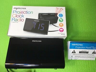 Memorex  projection clock radio  dual alarm  AM/FM Presets MC0952