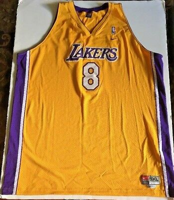 812192ee7 RARE🔥 Nike NBA Authentic Los Angeles Lakers Kobe Bryant Sewn 5XL Length + 2