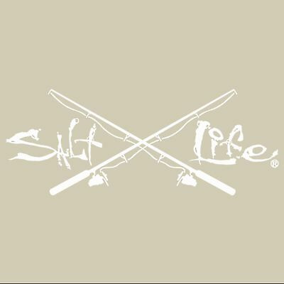 Salt Life Signature and Poles Decal White