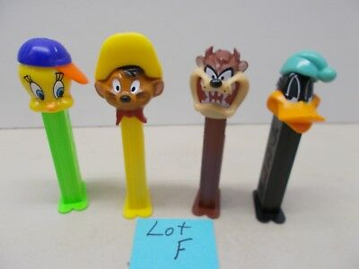 Pez Candy Dispensers ~ 4 - Tweety Bird And Friends Dispensers ~ Lot F