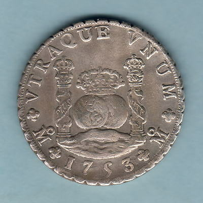 Mexico. 1753-MF 8 Reales - Pillar Dollar..  VF+