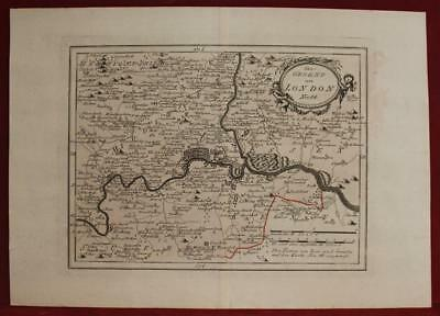 London United Kingdom 1791 Von Reilly Antique Original Copper Engraved Map