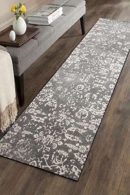 Hallway Runner Hall Runner Rug Modern Grey 4 Metres Long Premium Edith 264