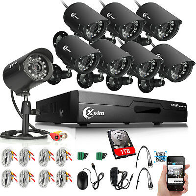 XVIM 1080N HDMI 8CH DVR 720P Outdoor CCTV Outdoor Home Security Camera System US