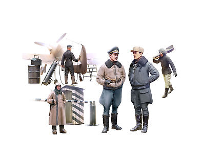 ICM 48086 - 1:48 WWII German Luftwaffe Pilots and Ground Personnel in Winter Uni
