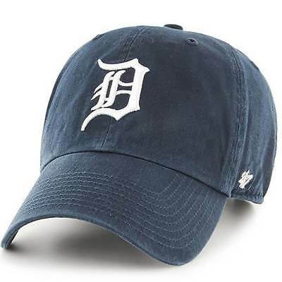 Cap Mlb Detroit Tigers Clean Up Curved V Relax Fit 47 Brand Blue Men B-RGW09GWS-
