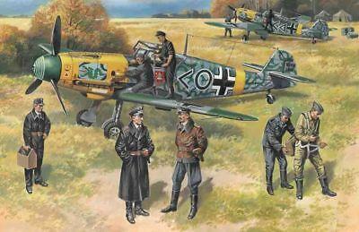 ICM 48803 - 1:48 Bf 109F-2 with German Pilots and Ground Personnel - Neu