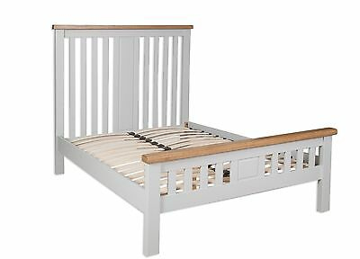 Dorset Oak Double Bed Pine in Painted French Grey FREE DEL!!