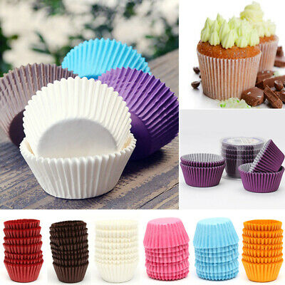 100 X Paper Cupcake Liners Cake Cup Baking Wedding Muffin Cases Cake Decorating