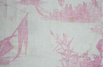 SUMMER CLEAROUT, FRAGMENT LATE 18th CENTURY FRENCH TOILE DE JOUY c1785, 201.