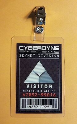 Terminator ID Badge-Cyberdyne Systems Visitor costume prop cosplay