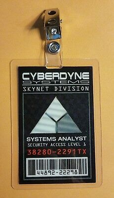 Terminator ID Badge-Cyberdyne Systems Systems Analyst costume prop cosplay