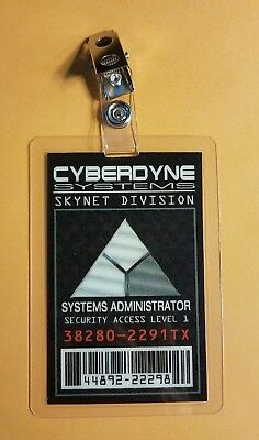 Terminator ID Badge-Cyberdyne Systems Systems Administrator costume prop cosplay