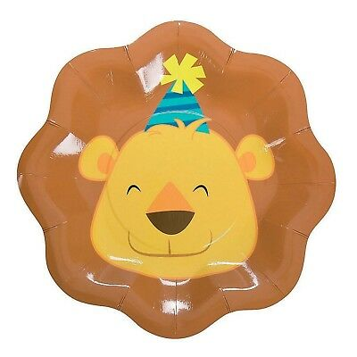 Jungle Animals Zoo Birthday Party Supplies Small Paper Plates (Pack Of 8)