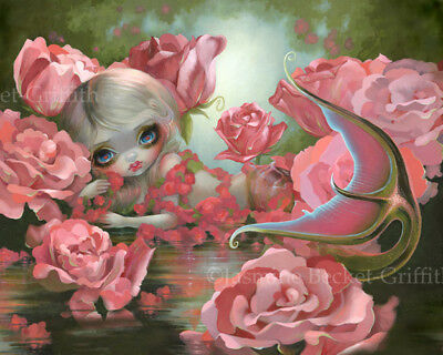 Jasmine Becket-Griffith art print SIGNED Mermaid with Roses