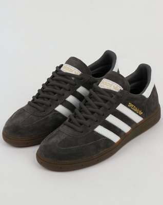 adidas Handball Spezial Trainers in Dark Grey & White, gum sole retro kicks