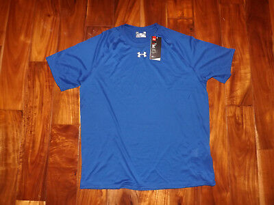 244e20156ef797 NWT Mens UNDER ARMOUR Royal Blue Loose Fit Active Exercise Shirt Size L  Large