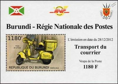 Correos VESPA PX 125 Spanish Post Office Mail Scooter Motorcycle Stamp Sheet #2