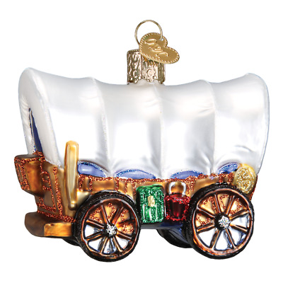 """""""Covered Wagon"""" (46012)X Old World Christmas Ornament"""