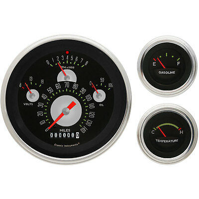 Classic Instruments TE01ASLF Tetra Series Authentic Gauge Package Includes: