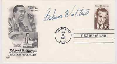 Signed Barbara Walters Fdc Autographed First Day Cover The View