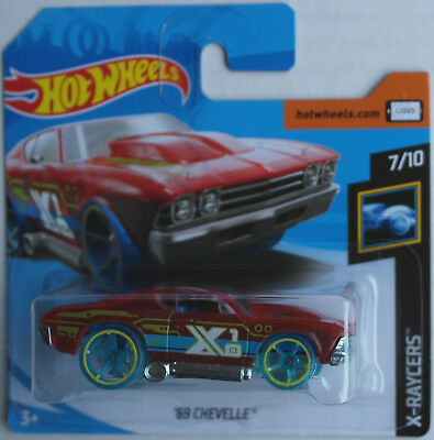 Hot Wheels 1969 Chevy Chevrolet Chevelle rot transparent Neu/OVP X-Racers HW ´69