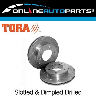 2 Front Dimpled + Slotted Disc Brake Rotors Ford Ranger PJ PK 2006-2011 RWD 4X4
