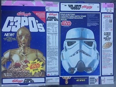 "1984 Vintage (Kellogg's) ""STAR WARS"" (C-3PO'S) Cereal Box, RARE! 50$ EACH"