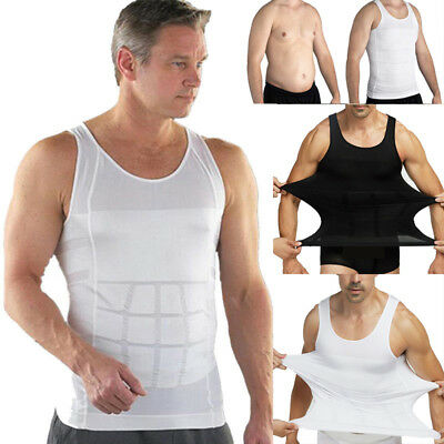 Men's Slimming Shirt Body Shaper Vest Compression Tank Top Corset Weight Loss HS