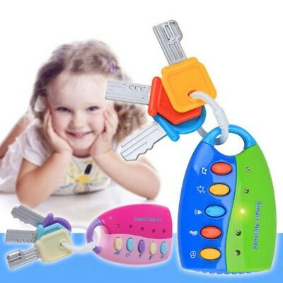 Baby Musical Smart Remote Car Key Toy Car Voices Pretend Play Education Toys